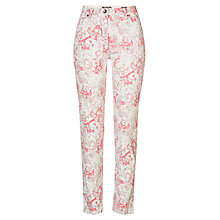 Buy Betty Barclay Floral Print Jeans, White / Dark Pink Online at johnlewis.com