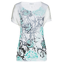 Buy Betty Barclay Floral Print T-Shirt, White / Green Online at johnlewis.com
