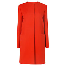 Buy L.K. Bennett Martina Swing Coat, Salsa Red Online at johnlewis.com