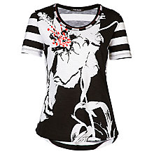 Buy Betty Barclay Short Sleeve T-Shirt, Black / White Online at johnlewis.com