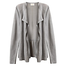 Buy East Linen Tie Back Cardigan, Smoke Online at johnlewis.com