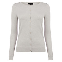 Buy Warehouse Crew Cardigan, Stone Online at johnlewis.com