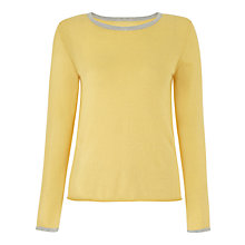 Buy Jigsaw Cashmere Trim Sweater Online at johnlewis.com