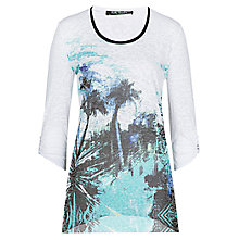 Buy Betty Barclay Tree Print Top, White / Emerald Online at johnlewis.com