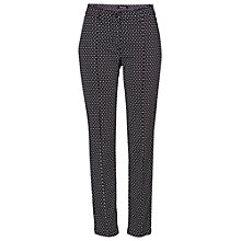 Buy Betty Barclay Diamond Print Trousers, Black/White Online at johnlewis.com