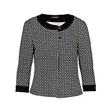 Buy Betty Barclay Round Neck Jacket, Black/White Online at johnlewis.com