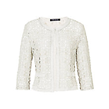 Buy Betty Barclay Round Neck Jacket, Off White Online at johnlewis.com