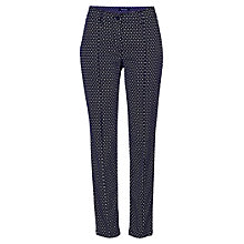 Buy Betty Barclay Diamond Print Stretch Trousers, Night Sky Online at johnlewis.com