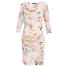 Buy Betty Barclay Cowl Neck Flower Print Dress, Rose/Grey Online at johnlewis.com
