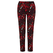 Buy Jigsaw Wood Block Trousers, Red Online at johnlewis.com