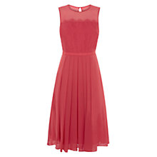 Buy Hobbs Metallic Lace Dress, Geranium Pink Online at johnlewis.com