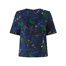 Buy Jigsaw Wood Block Top, Blue Online at johnlewis.com