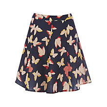 Buy Oasis Bold Butterfly Flippy Skirt, Multi Online at johnlewis.com