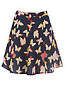 Oasis Bold Butterfly Flippy Skirt, Multi