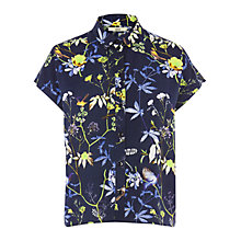 Buy Oasis Roll Shirt, Navy Online at johnlewis.com