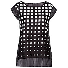 Buy Betty Barclay Sleeveless Print Blouse, Black/White Online at johnlewis.com