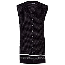Buy Betty Barclay Sleeveless Spot Blouse, Black/White Online at johnlewis.com