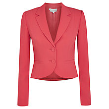 Buy Hobbs Elle Jacket, Geranium Pink Online at johnlewis.com