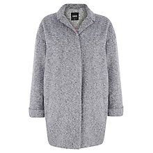 Buy Oasis Tweed Cocoon Coat, Mid Grey Online at johnlewis.com
