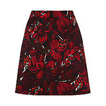 Buy Jigsaw A-line Skirt, Red Online at johnlewis.com