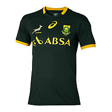Buy Asics Springboks Rugby Supporter's T-Shirt, Green/Gold Online at johnlewis.com