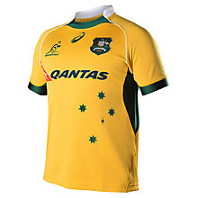 Buy Asics Australia Replica Rugby Jersey, Gold Online at johnlewis.com