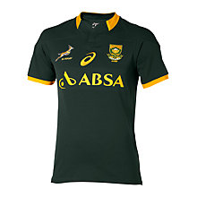 Buy Asics Springboks 2014/15 Rugby Jersey, Green/Gold Online at johnlewis.com