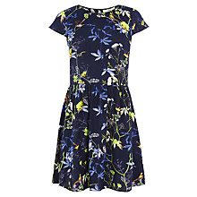 Buy Oasis Bird Skater Dress, Navy Online at johnlewis.com