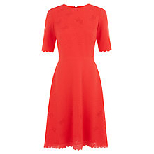 Buy Hobbs Butterfly Dress, Marigold Orange Online at johnlewis.com