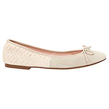 Buy Mint Velvet Charli Snake Embossed Suede Pumps, Neutral Online at johnlewis.com