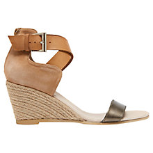 Buy Mint Velvet Blair Leather Espadrille Sandals, Bronze/Tan Online at johnlewis.com