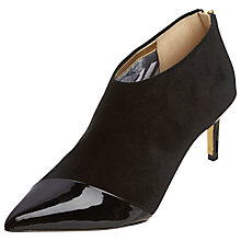 Buy Ted Baker Cirby Suede Toe Pointed Ankle Boots, Black Online at johnlewis.com