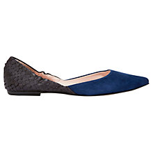 Buy Mint Velvet Danni Contrast Suede Pumps, Black/Navy Online at johnlewis.com
