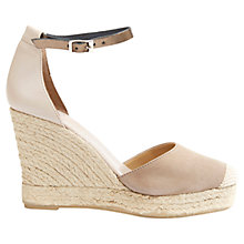 Buy Mint Velvet Bryony Leather Espadrille Sandals, Mink Online at johnlewis.com