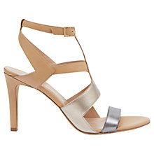 Buy Mint Velvet Rita Leather Sandals, Metallic Online at johnlewis.com