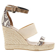 Buy Mint Velvet Greta Leather Espadrille Sandals, Stone Online at johnlewis.com