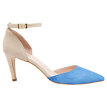 Buy Mint Velvet Sandi Pointed Suede Court Shoes, Blue/ Stone Online at johnlewis.com