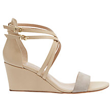 Buy Mint Velvet Gaia Cross Over Leather Sandals, Mink Online at johnlewis.com