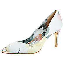 Buy Ted Baker Charmesa Print Court Shoes, Green Multi Online at johnlewis.com