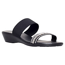 Buy Carvela Comfort Shannon Wedged Sandal, Black Online at johnlewis.com