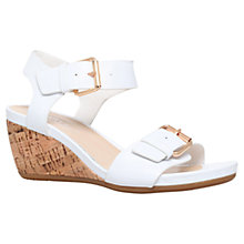 Buy Carvela Comfort Splinter Buckle Leather Wedge Sandals Online at johnlewis.com
