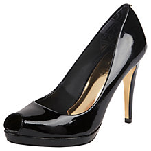 Buy Ted Baker Allyssonna Patent Leather Open Toe Court Shoes, Black Online at johnlewis.com