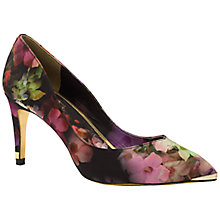 Buy Ted Baker Charmesa Print Court Shoes, Black Print Online at johnlewis.com