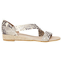 Buy Mint Velvet Ella Leather Espadrille Sandals, Snake Online at johnlewis.com
