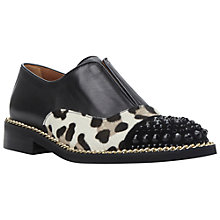 Buy Dune Black Georgi Pony Laceless Brogues, Leopard Online at johnlewis.com