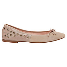 Buy Mint Velvet Carlotta Studded Suede Pumps, Mink Online at johnlewis.com