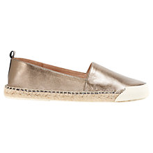 Buy Mint Velvet Elysia Metallic Leather Espadrilles, Bronze Online at johnlewis.com