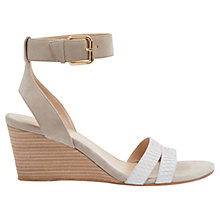 Buy Mint Velvet Gulia Wedge Leather Sandals, Mink Online at johnlewis.com
