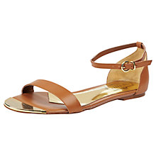 Buy Ted Baker Ballena Leather Sandals, Tan Online at johnlewis.com