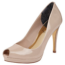 Buy Ted Baker Allyssonna Patent Leather Open Toe Court Shoes, Nude Online at johnlewis.com